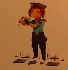 "mondo artist Olly Moss "" Jill Valentine"" 5x5 Print resident evil video game"