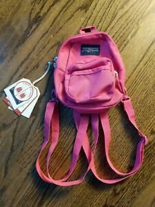 Vintage 90s Jansport Mini Backpack Purse BRIGHT BEET PINK NOS NWT VTG RETRO