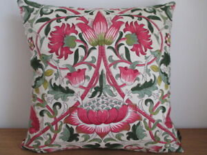 Liberty William Morris Lodden Pink & Mulberry Velvet Fabric Cushion Cover