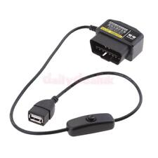 OBD2 USB Power Charging Cable- 16Pin Connector Car Charger for Gps DVR (3) L80