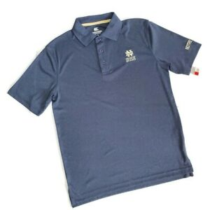 Colosseum Notre Dame Fighting Irish Golf Polo Shirt Mens Size Small Blue NWT