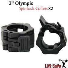 """2"""" Olímpico Spinlock Collers Par x 2 Abrazaderas juego 5cm Levantamiento Pesas"""