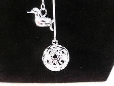 Ungewöhnliche silber multi Strang Vogel & Ball Schleife durch Halskette mit gratis Geschenk Tasche
