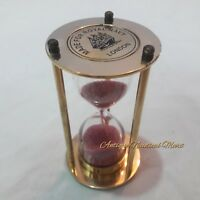 Antique Nautical Brass Sand Timer Collectible Gift