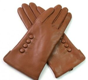 Ladies Womens Premium High Quality Genuine Soft Leather Gloves Fully Lined Warm
