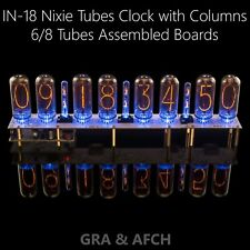 IN-18 Nixie Tubes Clock Assembled Boards for 4, 6, 8 Tubes [NO TUBES] Slot Machi