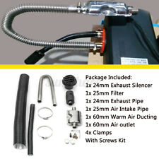 24mm Exhaust Silencer + 25mm Filter Exhaust & Intake Pipe For Air Diesel Heater