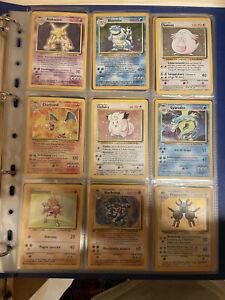 Pokemon Set Base Completo Italiano 102/102 Holo Lp good/excellent WOTC base Set