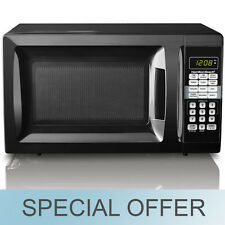 Hamilton Beach 0.7 cu ft Microwave Oven W/ Child Safety Lock  Black -  New