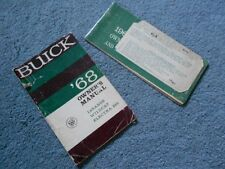 1968 BUICK OWNER's MANUAL & OWNER PROTECTION PLAN BOOK LeSABRE WILDCAT ELECTRA