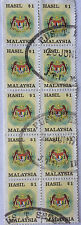 Malaysia Used Revenue Stamps - 10 pcs $1 Stamp (Old Design Small Size)
