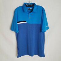 Callaway Opti Dri Blue Short Sleeve Golf Polo Shirt Mens Size Large EUC - C108P