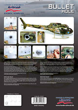Harder & steenbeck aerógrafo Plantillas-Bullet Hole