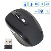 2.4G Wireless Wireless Optical Mouse Laptop PC + USB Receiver T1Y5