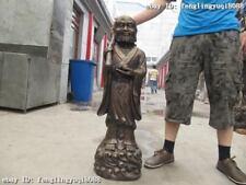 "38""Tibet Buddhism Bronze Dharma ancestor Buddha Statue"