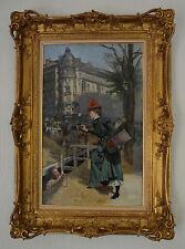 """LEMEUNIER Basile (1852-1922) """"Un trottin de Paris"""" Paris detaille Metro Drouot"""