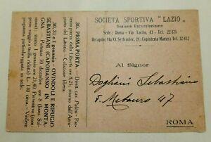 Programma Escursioni - Società Sportiva Lazio - Littorio -  Dicembre 1928 - Raro
