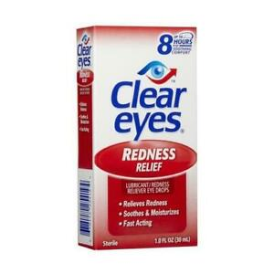 3 Pack - Clear Eyes Redness Relief Eye Drops 1oz Each