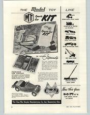 1954 PAPER AD Doepke Model MT Sports Car Kit Toy Trucks Revell's Battle Ships