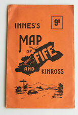 Fife & Kinross Map 1937 Innes's Road, Rail & Parochial Original Vintage