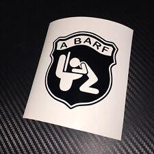 GLOSS BLACK  A BARF Car Sticker Decal Funny Fun Rat Look Fiat Abarth Panda 500
