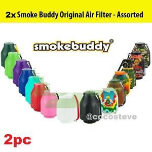 2x Smoke Buddy Original PERSONAL AIR FILTER - Random Assorted Colors