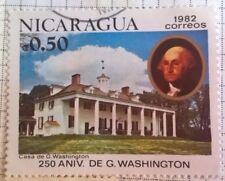 Nicaragua stamps - Casa de George Washington - FREE P & P