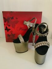 Pleaser Bond712/PW/M Bond Girl Stiletto Gun Heel Platform Sandals Size 8 Sexy