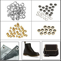 8mm Brass Grommet Eyelet with Washer for Leather Crafts Handbags Canvas 100pcs