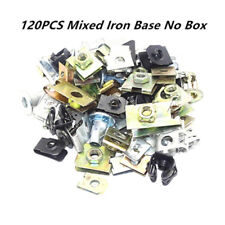 120PCS Car Auto Fender Chassis Guard Screw Alloy Steel Iron Base Fastener Clips
