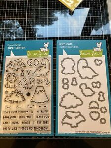 Lawn Fawn Rawrsome Stamps & Coordinating Dies - One Die Missing