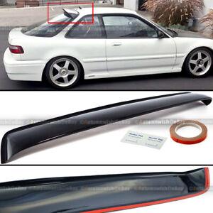 Fit 90-93 Integra 2DR Hatchback JDM ABS Rear Window Roof Vent Visor Spoiler Wing
