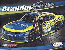 "2015 BRANDON JONES ""JELD WEN WINDOWS & DOOR"" #33 NASCAR XFINITY SERIES POSTCARD"