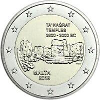 Malta 2 Euro 2019 Ta' Hagrat Prähistorische Stätten bankfrisch