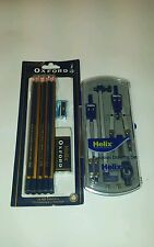 Helix Precision Drawing Set & Pencils,Sharpener & Rubber Set School / Stationary