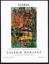 1957 Vintage Yankel Portofino Art Galerie Romanet Gallery Print Ad