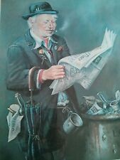 """KEITH ENGLISH  """"THE LAST BUSINESSMAN IN BRITAIN"""" Signed limited edition print."""