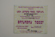 THE JAM - GENUINE CONCERT TICKET - LOCH LOMOND ROCK FESTIVAL, SAT 21ST JUNE 1980
