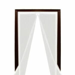 White Magic Curtain Door mesh Magnetic Fastening Hands Fly Bug Insect Screen