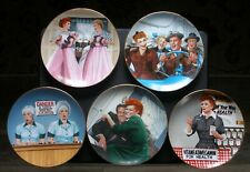 I Love Lucy Collector Plates (5) Jim Kritz Official Lucille Ball Hamilton MINT