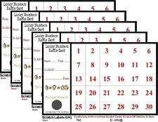 Lucky Numbers Fundraising A6 Raffle/Scratch Cards (25 cards x 30 Numbers), New