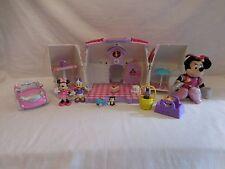 Disney Minnie Mouse Pet Shop Play Set fold up + Car + Minnie Plush + Accessories
