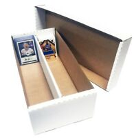 8) 1600 COUNT BASEBALL TRADING CARD 2 ROW MAX PROTECTION CARDBOARD STORAGE BOXES