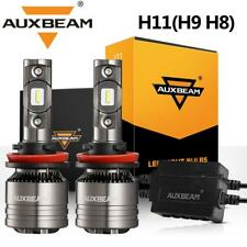 AUXBEAM LED Headlight H8 H9 H11 Fog Bulbs Kit+Canbus Decoder Temperature Control