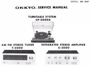 ONKYO A-3000, CP-5000A, T-5000 Schematic Diagram Service Manual Schaltplan
