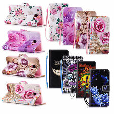 Luxury Flip Cover Wallet Card Leather Phone Case Stand for Samsung Galaxy Huawei