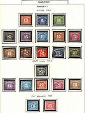 Stamps - Great Britain Elizabeth Ii - Postage Due _ 1959 1970 Complete