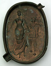 """VINTAGE """"OH"""" OVAL ASHTRAY - RISQUE NAUGHTY (SEE PICTURES) - OLD HAS PATINA"""