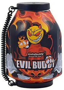 "Smoke Buddy The Original PERSONAL AIR FILTER ""Evil Buddy"" w/ FREE Keychain"