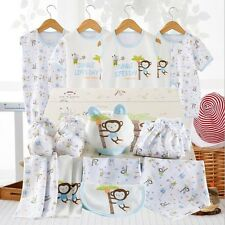18PCS/set Blue Monkey newborn baby boy Clothing Cotton Infant Summer Outfit Sets